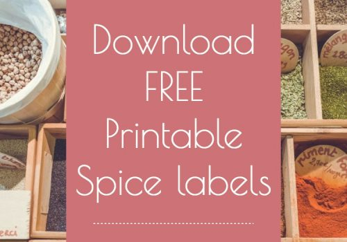 image relating to Printable Spice Labels named Printable Spice Labels RV Enthusiasm