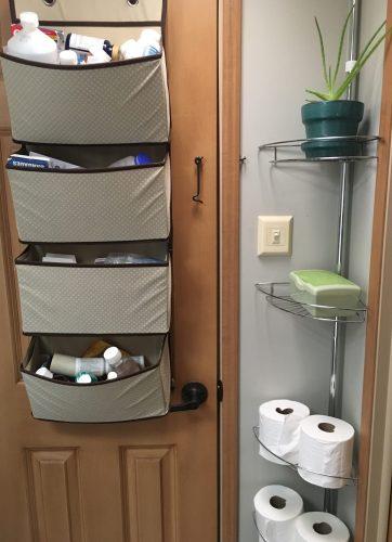 rv bathroom storage organization ideas rv inspiration