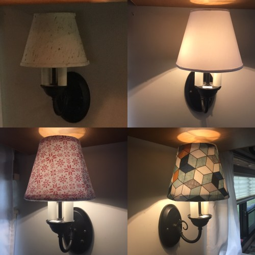 Diy how to replace lampshade hardware fittings rv inspiration i made removable covers for my new lampshade so i could change the look to decorate for each season click here to read more about this project aloadofball Choice Image