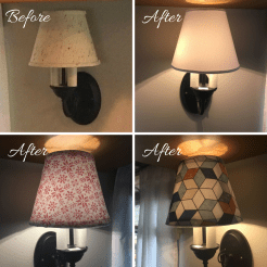 Changeable lamp shade covers