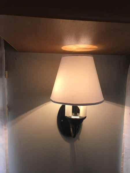 New lampshade I made by replacing the hardware