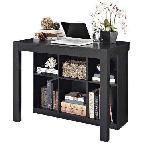 Desk with storage shelves for motorhomes, campers, and travel trailers | RV furniture
