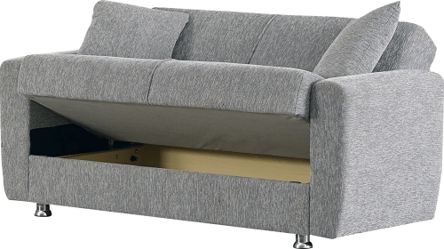 Sleeper sofa love seat with storage - Best RV furniture - sofas or couches for motorhomes, campers, and travel trailers