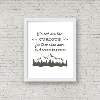 Free printable rustic wall decor from RV Inspiration - Adventure travel quote | Ideas for campers, motorhomes, and travel trailers
