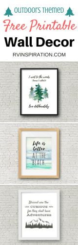Free printable rustic outdoors wall decor