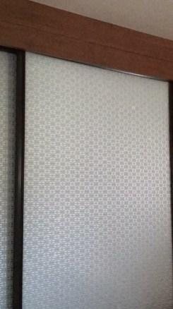 Window film makeover for mirror closet sliding door in RV, camper, motorhome, or travel trailer