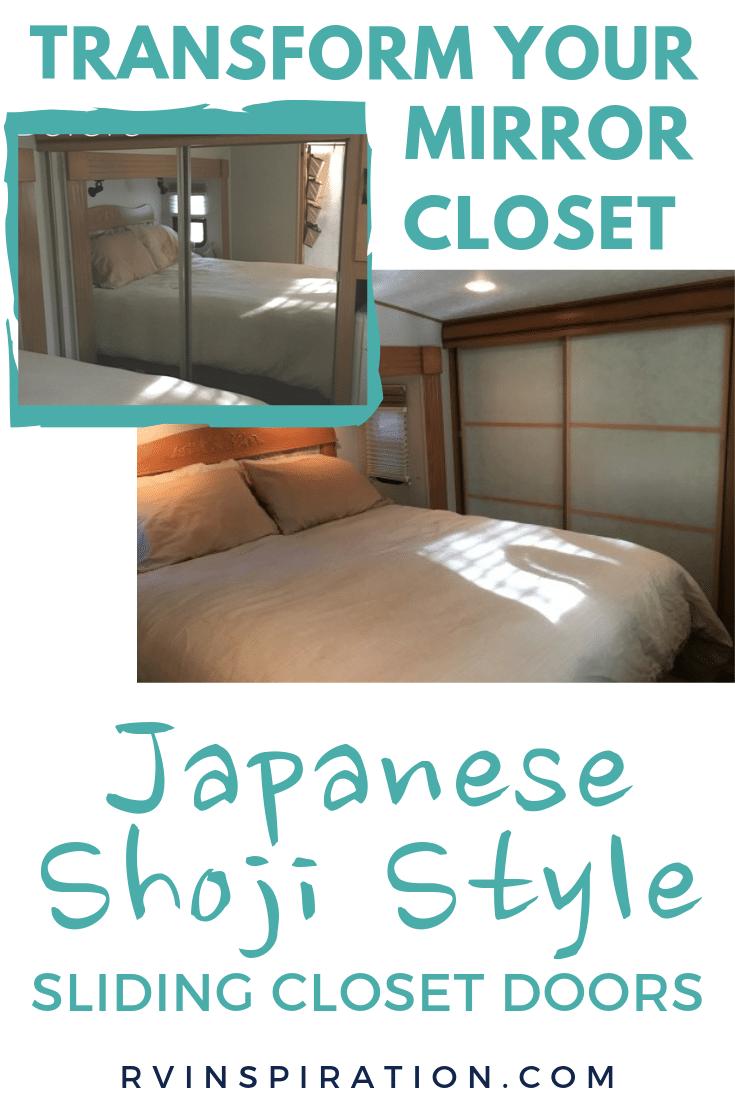Mirror Closet Makeover Idea Pinterest Image