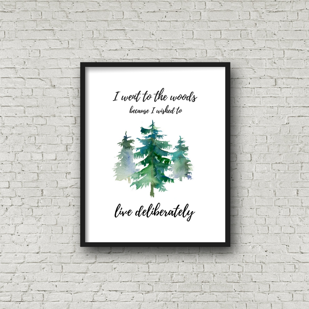 I Went to the Woods Free Printable Wall Decor