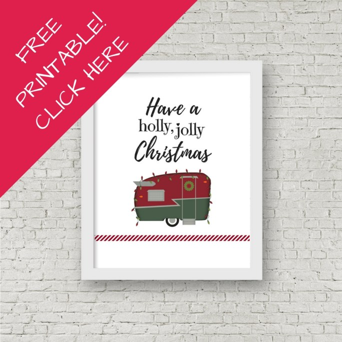 Free Printable Christmas Camper Wall Decor for your home or RV