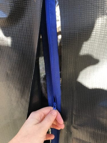 Zipper made from garment bag added to RV skirting