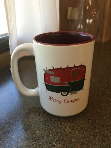 Vintage camper Christmas mug