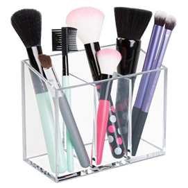 Adhesive acrylic caddy for storage and organization