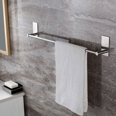 Adhesive towel bar for kitchens or bathrooms