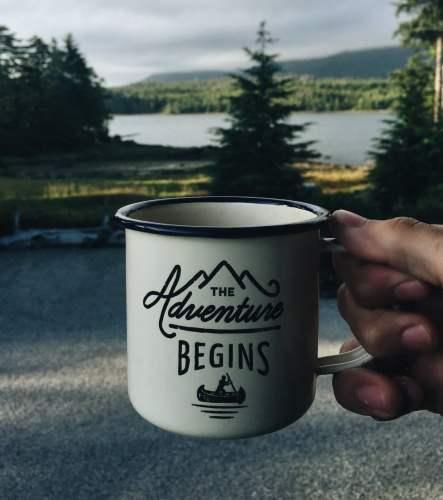 The Adventure Begins Coffee Mug, photo by Matthew Sleeper