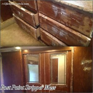 This RV owner had to redo her painting project because she didn't sand first.