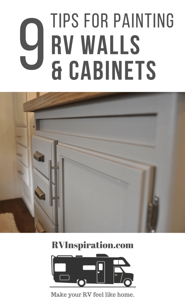 9 Tips for Painting RV Walls and Cabinets Pinterest Image