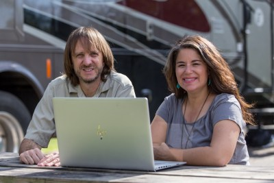 """Camille and her husband Bryce run the website MoreThanAWheelin.com. They describe themselves as """"former workaholics, who traded in Corporate America for North America, to explore new places, people, and possibilities."""""""