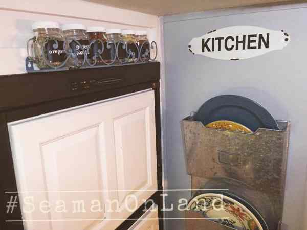 Wall storage ideas in RV kitchen