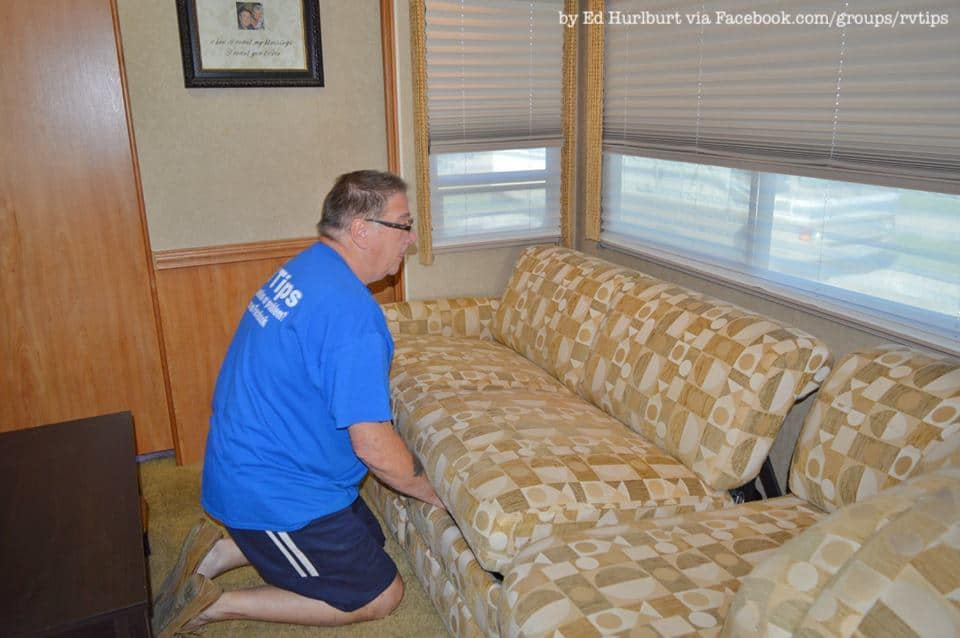 See How Easy It Is To Remove A Jackknife Rv Sofa Rv Inspiration