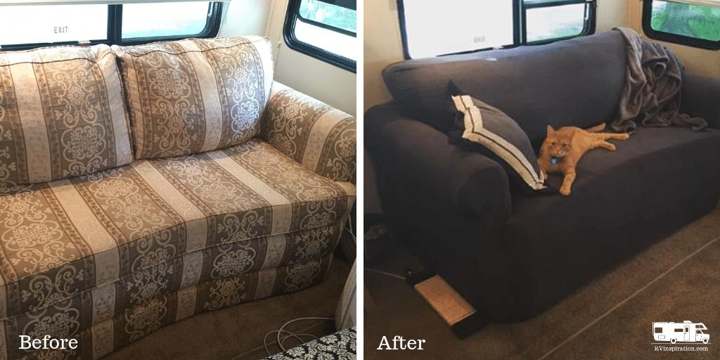 Slipcover for RV Sleeper Sofa