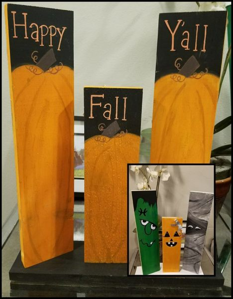 fall and Halloween decor by Crystal Dearstine