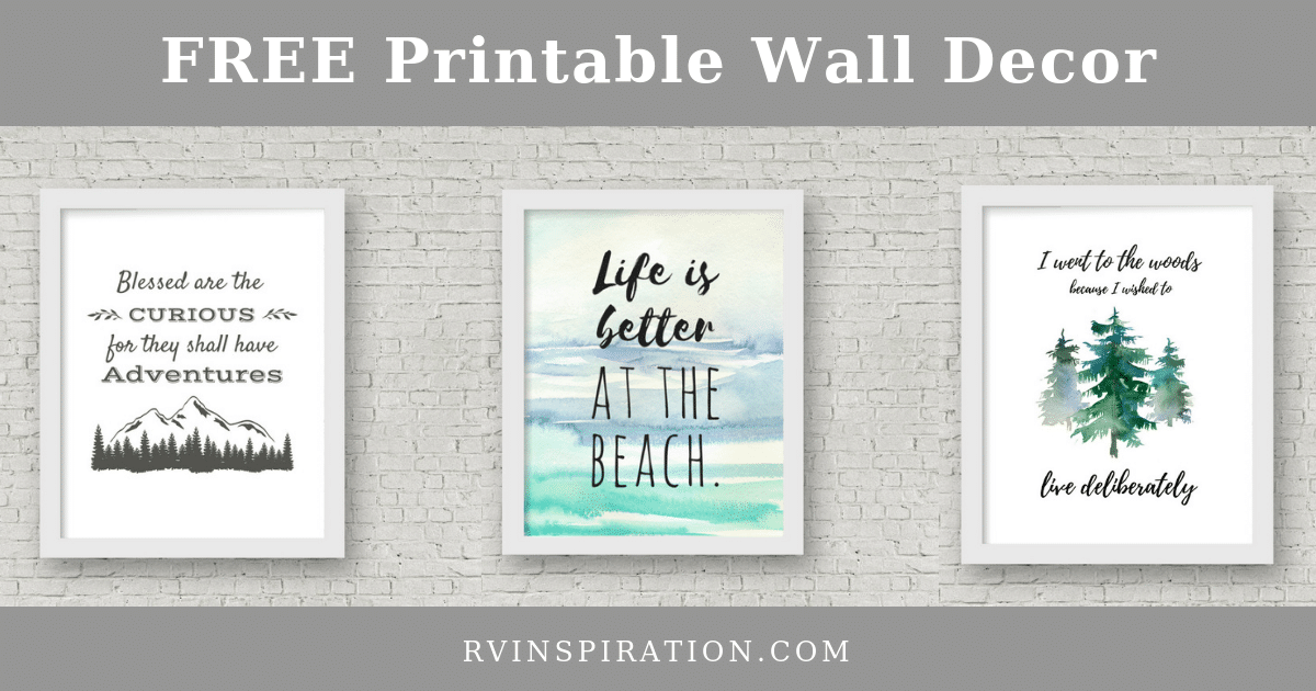 image relating to Free Printable Wall Decor known as Absolutely free Outside / Drive Themed Camper Wall Artwork