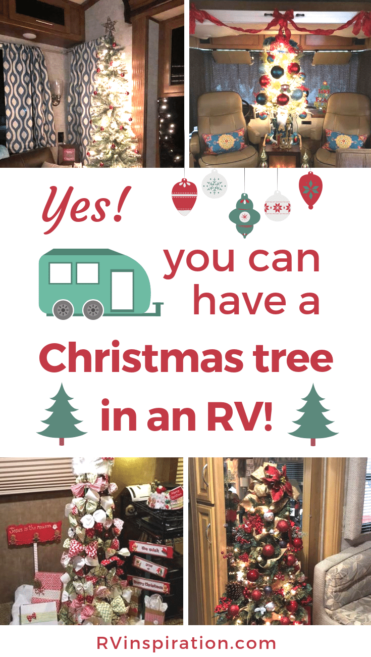 Spending Christmas in an RV doesn't mean you can't have a tree! These RVers made one fit, and so can you! | RVinspiration.com #RV #camper #motorhome #RVing #fulltimeRVing
