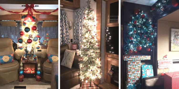 Examples of Christmas trees in RVs