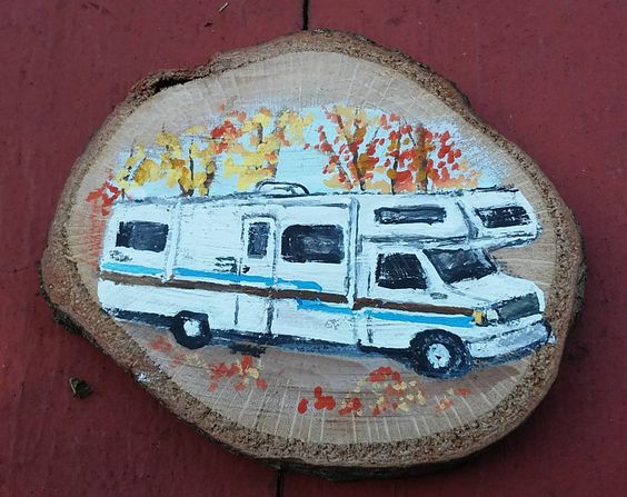 Hand Painted RV Ornament by WoofersAndTweeters on Etsy