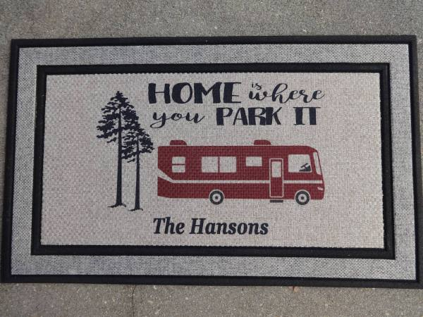 Motorhome welcome mat by kozykidsboutique on Etsy