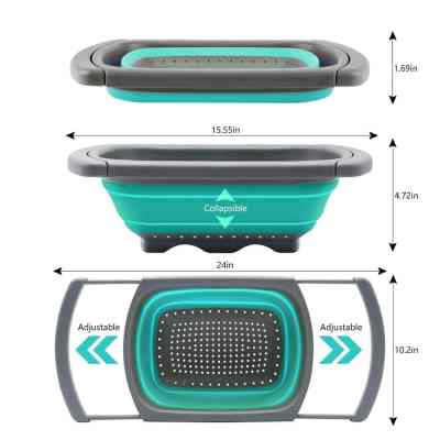 Collapsible colander ideal for a motorhome kitchen