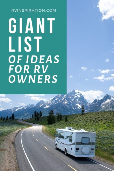 Giant list of ideas for RV owners