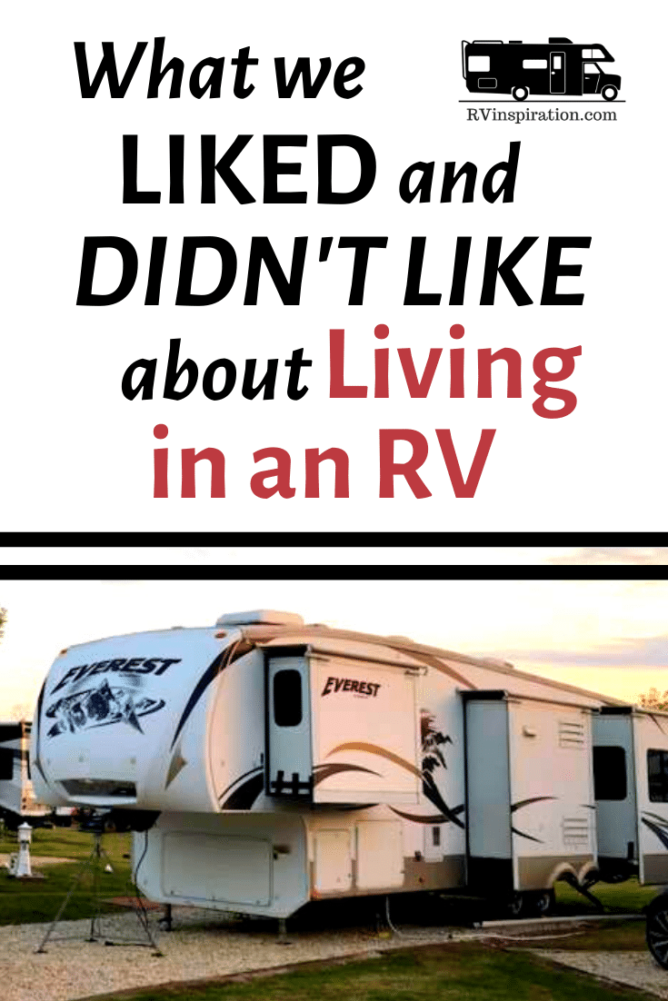 Full Time RV Pros and Cons Pinterest Image