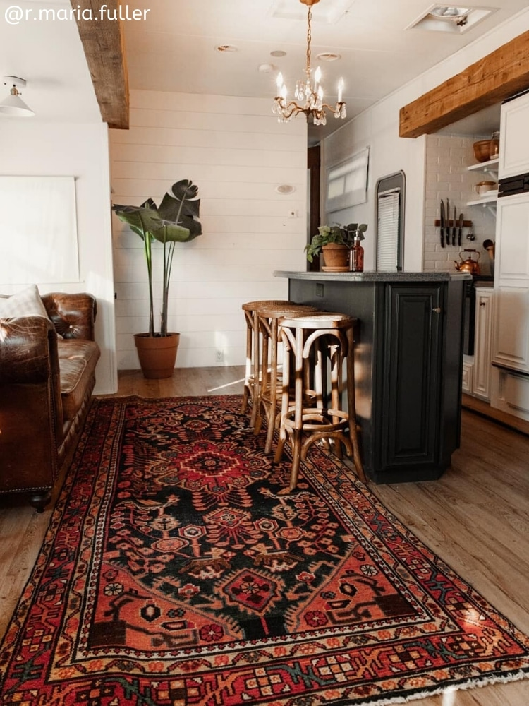 r.maria.fuller oriental rug in renovated RV