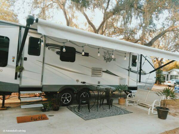 rv patio and campsite decorating ideas