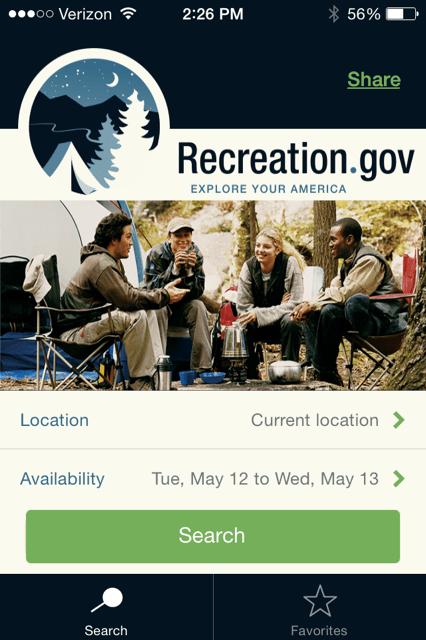 RV Recreation camping app
