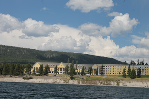 Lake Hotel Viewed from Yellowstone Lake