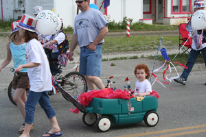 Children in Wagon at July 4th Parade