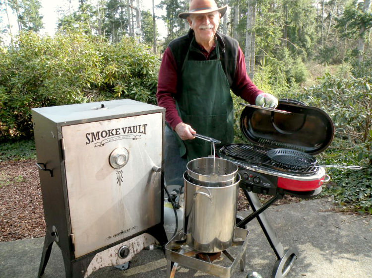 Bringing along some BBQ gear that you can operate in the open air (that come in a lot of different shapes and sizes) is a key way to easily prepare meals, especially fish, on the road.