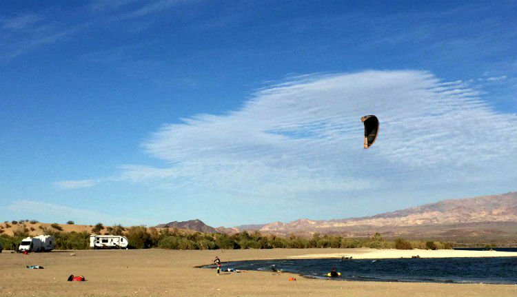 kite boarding RVers