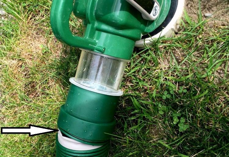 RV sewer hose explosion