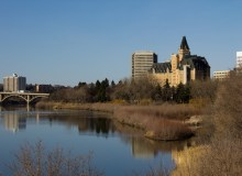 Camp By The River In Saskatchewan's Largest City