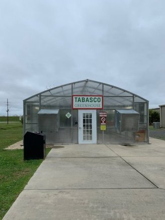 The experimental tabasco greenhouse described on the RV Podcast