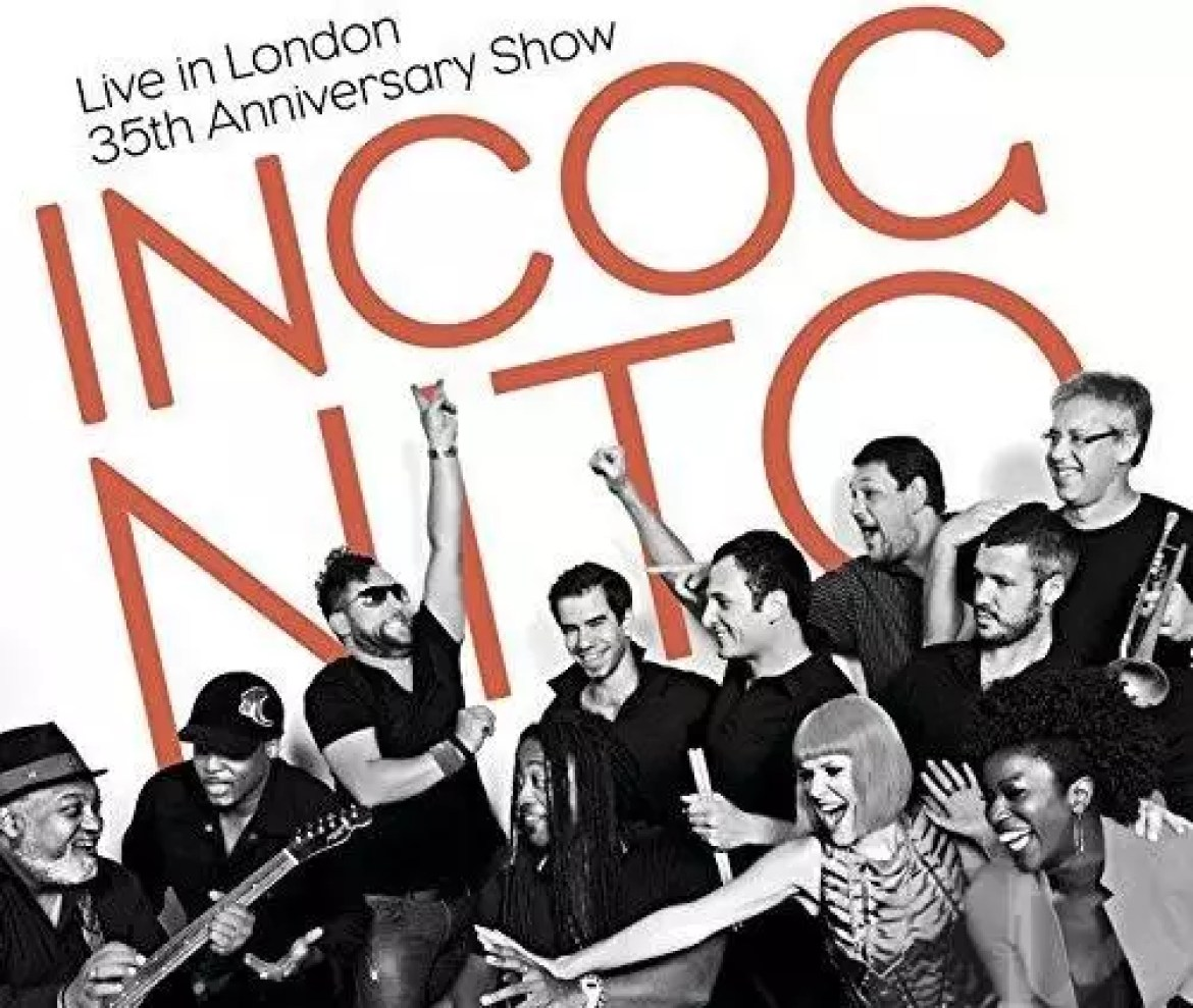 Incognito record the album 'Live In London – 35th Anniversary Show' with Mario Biondi, Carleen Anderson and more guests (2014)