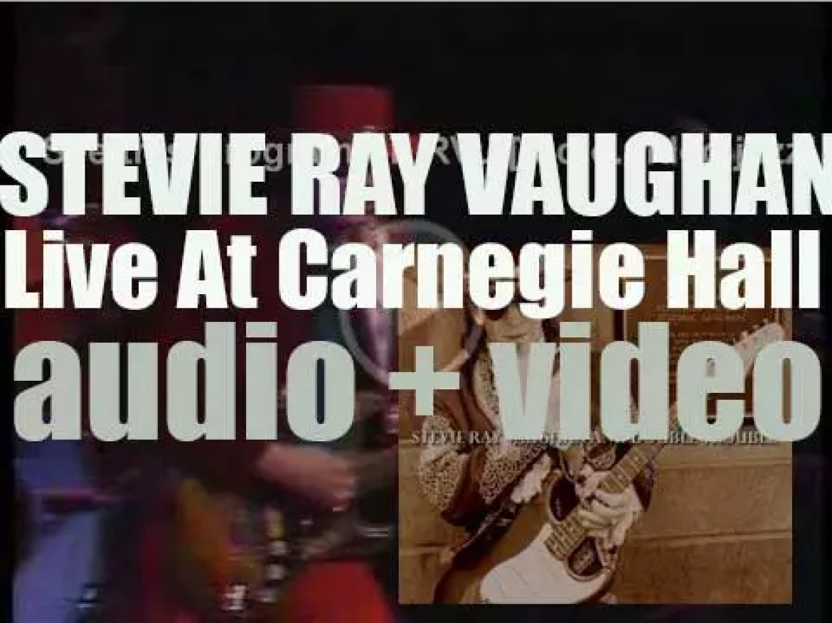 Stevie Ray Vaughan records 'Live at Carnegie Hall,' a live album with Double Trouble (1997)