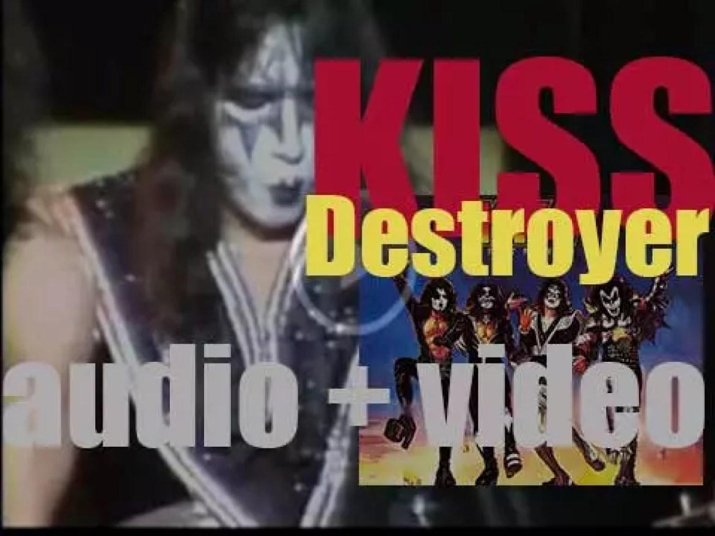 Kiss release their fourth album : 'Destroyer' produced by Bob Ezrin (1976)