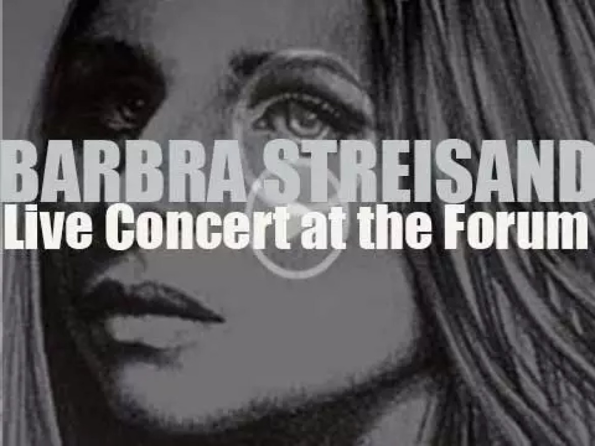 Barbra Streisand records the album 'Live Concert at the Forum' during a fundraiser for George McGovern (1972)