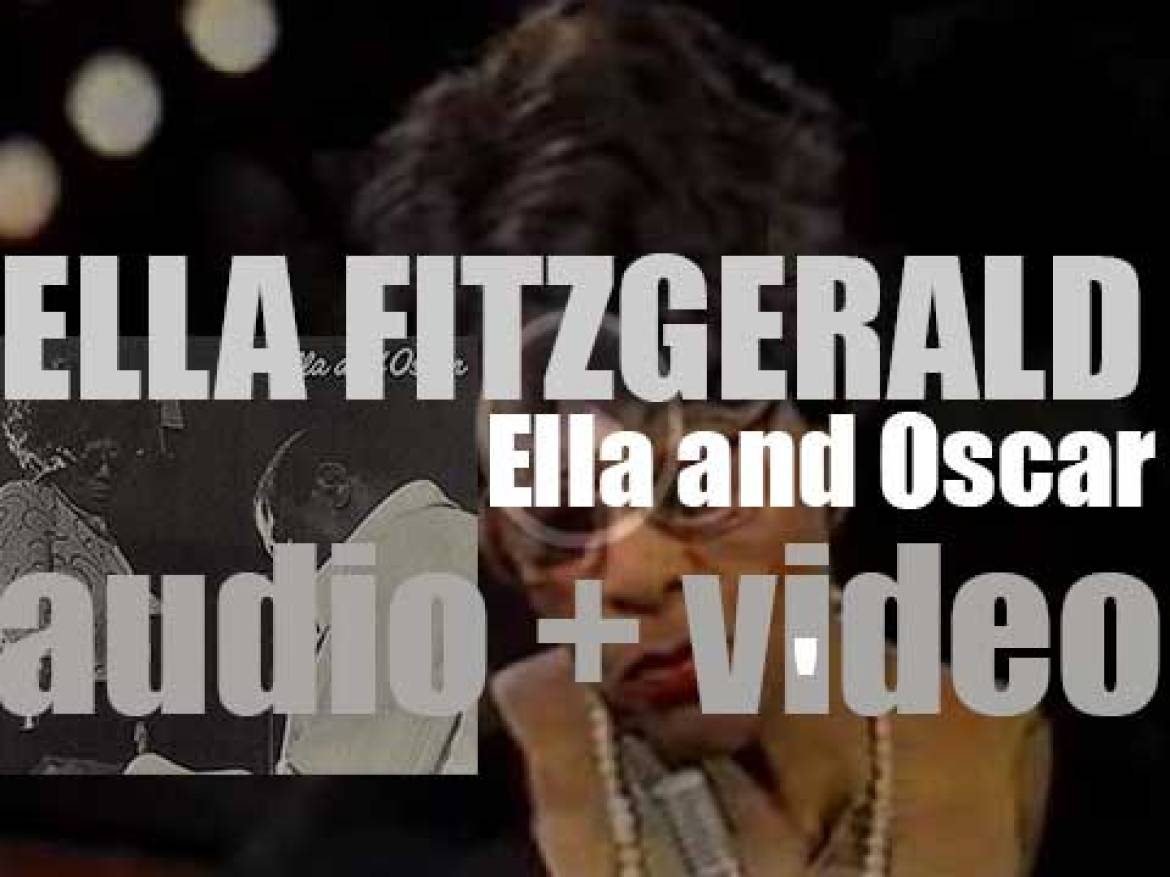 Ella Fitzgerald records 'Ella and Oscar' with Oscar Peterson and Ray Brown, live in Los Angeles (1975)