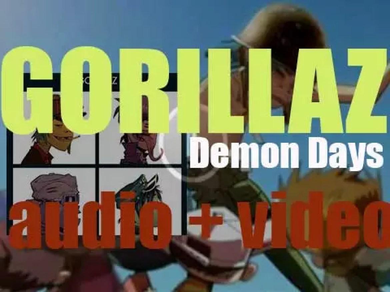 Parlophone release Gorillaz' second album : 'Demon Days' featuring De La Soul, Neneh Cherry and more (2005)