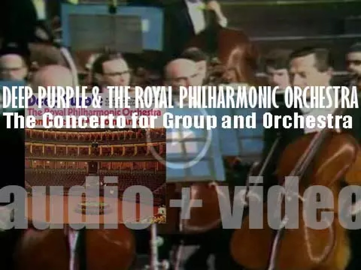 Deep Purple record 'The Concerto for Group and Orchestra' with The Royal Philharmonic Orchestra (1969)